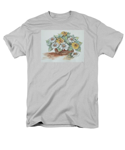 Men's T-Shirt  (Regular Fit) featuring the painting Daisy Craze by Sharyn Winters