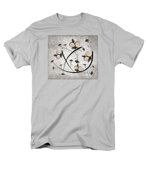 Men's T-Shirt  (Regular Fit) featuring the digital art Dancing Flowers by Milena Ilieva