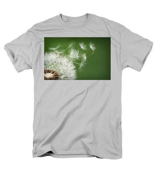 Men's T-Shirt  (Regular Fit) featuring the photograph Dandelion Blowing by Bess Hamiti
