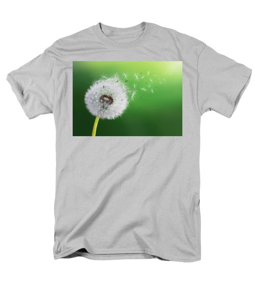 Men's T-Shirt  (Regular Fit) featuring the photograph Dandelion Seed by Bess Hamiti