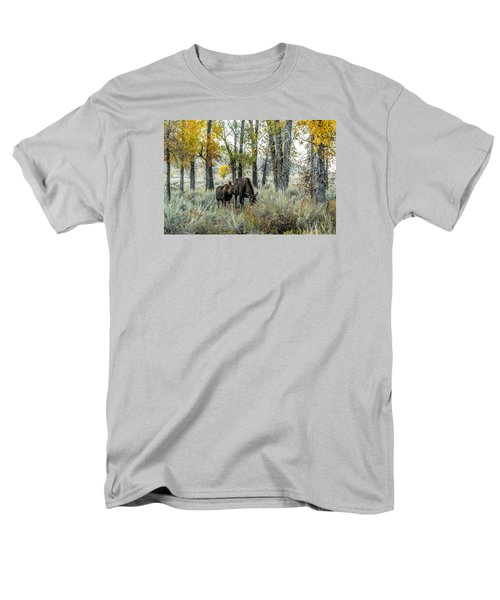 Men's T-Shirt  (Regular Fit) featuring the photograph Day's End At Gros Ventre by Yeates Photography