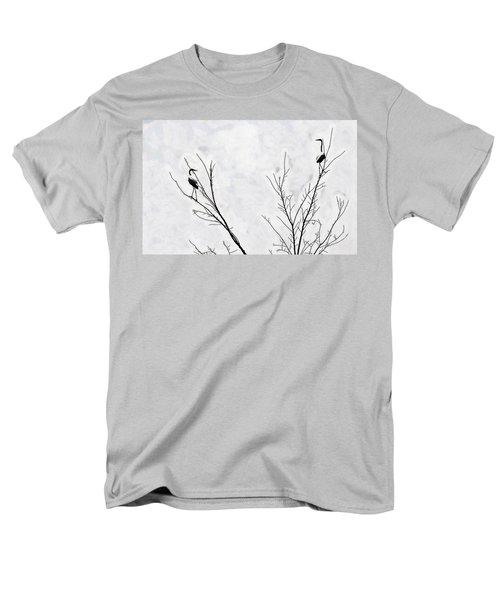Dead Creek Cranes Men's T-Shirt  (Regular Fit) by Jim Proctor