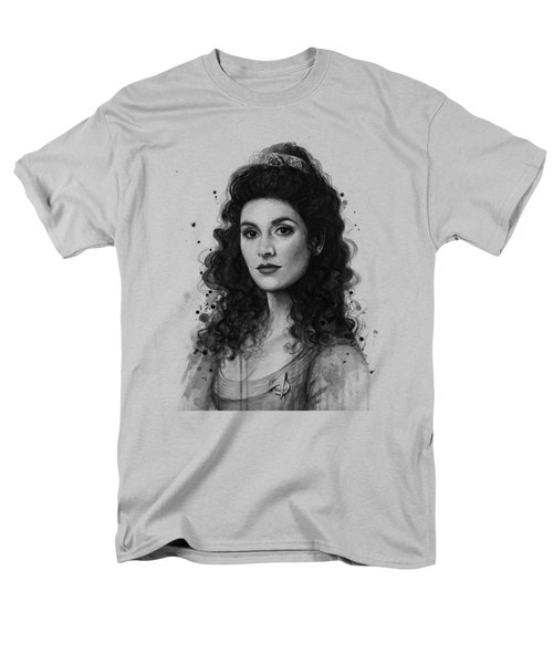 Deanna Troi - Star Trek Fan Art Men's T-Shirt  (Regular Fit) by Olga Shvartsur