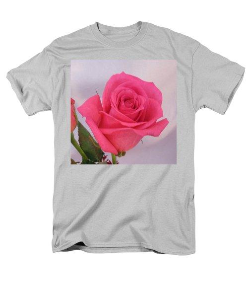 Deep Pink Rose Men's T-Shirt  (Regular Fit) by Karen J Shine