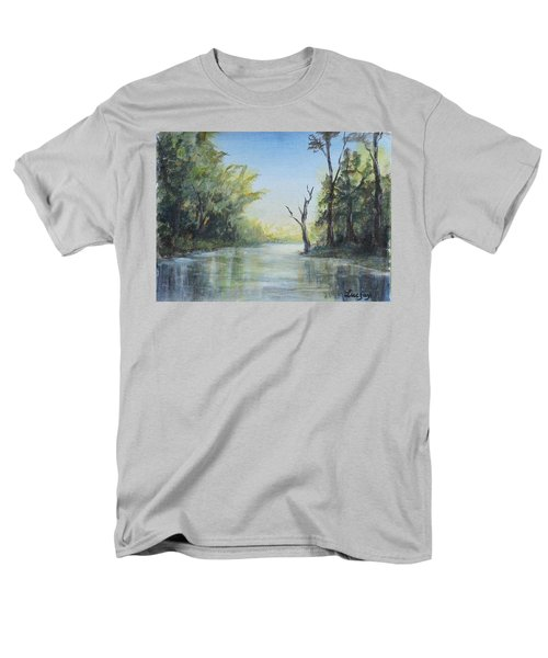 Men's T-Shirt  (Regular Fit) featuring the painting Delaware River  by Luczay