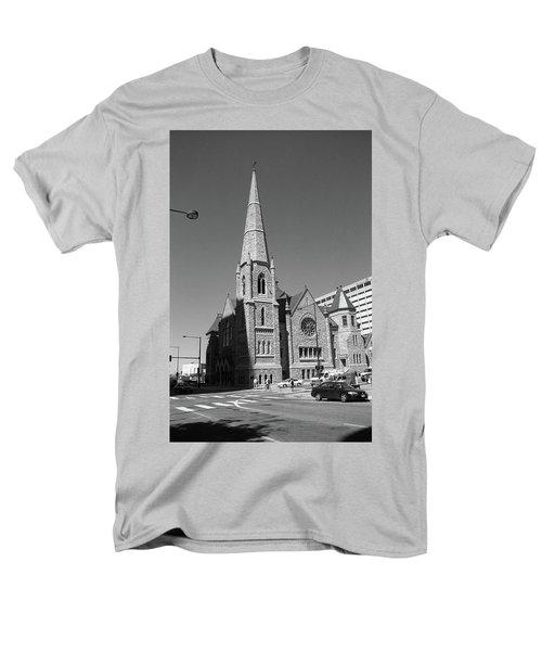 Denver Downtown Church Bw Men's T-Shirt  (Regular Fit) by Frank Romeo