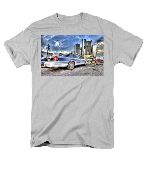 Detroit Police Men's T-Shirt  (Regular Fit) by Nicholas  Grunas