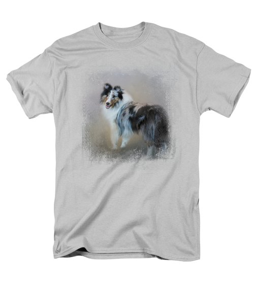 Did You Call Me - Blue Merle Shetland Sheepdog Men's T-Shirt  (Regular Fit) by Jai Johnson