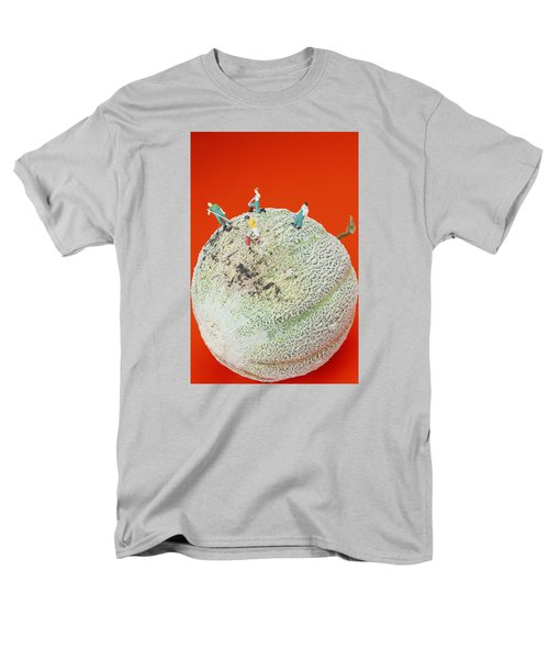 Men's T-Shirt  (Regular Fit) featuring the painting Dirty Cleaning On Sweet Melon Little People On Food by Paul Ge