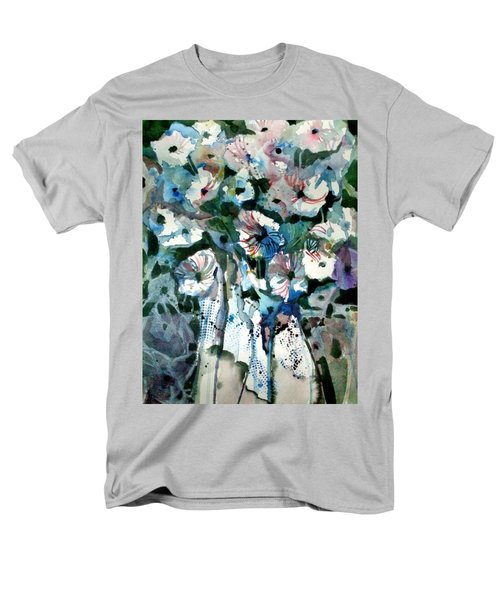 Men's T-Shirt  (Regular Fit) featuring the painting Disney Petunias by Mindy Newman