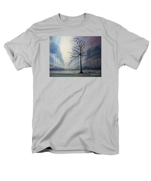 Men's T-Shirt  (Regular Fit) featuring the painting Divine Serenity by Stacey Zimmerman
