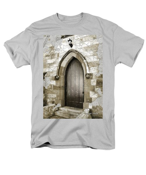 Men's T-Shirt  (Regular Fit) featuring the photograph Do-00055 Chapels Door In Morpeth Village by Digital Oil