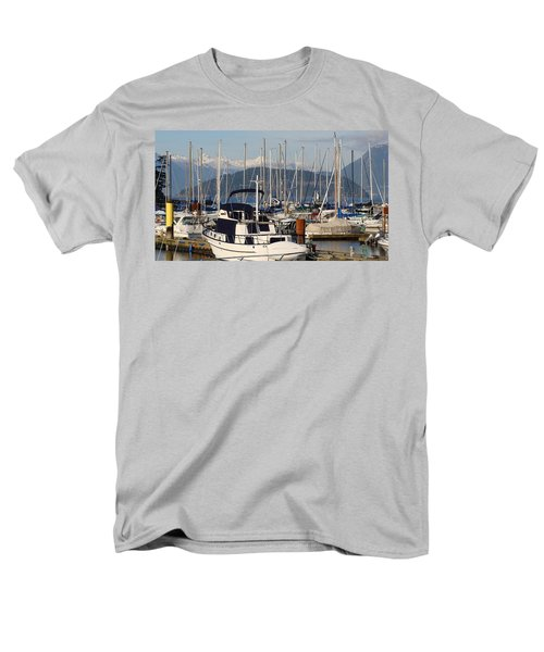 Men's T-Shirt  (Regular Fit) featuring the painting Docked For The Day by Rod Jellison