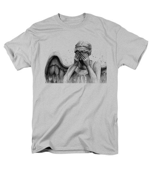 Doctor Who Weeping Angel Don't Blink Men's T-Shirt  (Regular Fit)