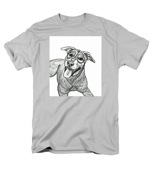Dog Sketch In Charcoal 5 Men's T-Shirt  (Regular Fit) by Ania M Milo