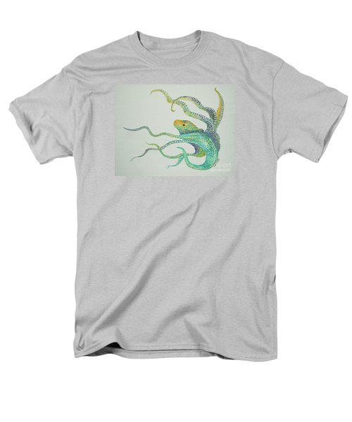 Men's T-Shirt  (Regular Fit) featuring the painting Dot Octopus by Tamyra Crossley