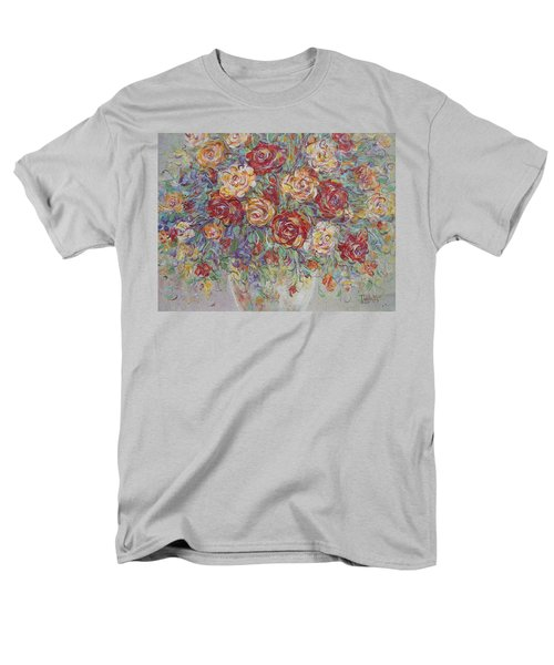 Men's T-Shirt  (Regular Fit) featuring the painting Double Delight. by Natalie Holland