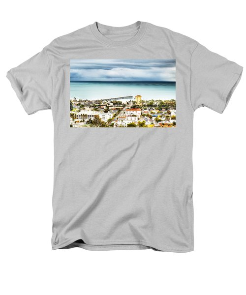 Downtown Ventura And Pier Men's T-Shirt  (Regular Fit) by Joe  Palermo