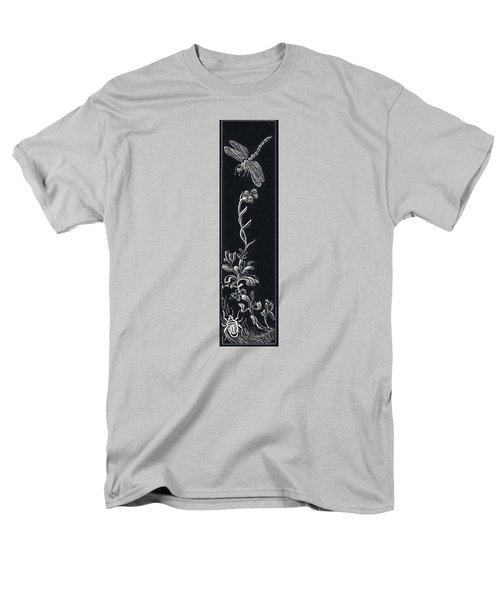 Men's T-Shirt  (Regular Fit) featuring the drawing Dragonfly With Catspaw And Bug by Dawn Senior-Trask