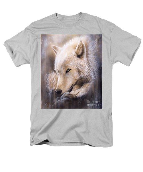 Dreamscape - Wolf Men's T-Shirt  (Regular Fit) by Sandi Baker
