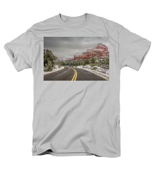 Boynton Canyon Road Men's T-Shirt  (Regular Fit) by Racheal Christian