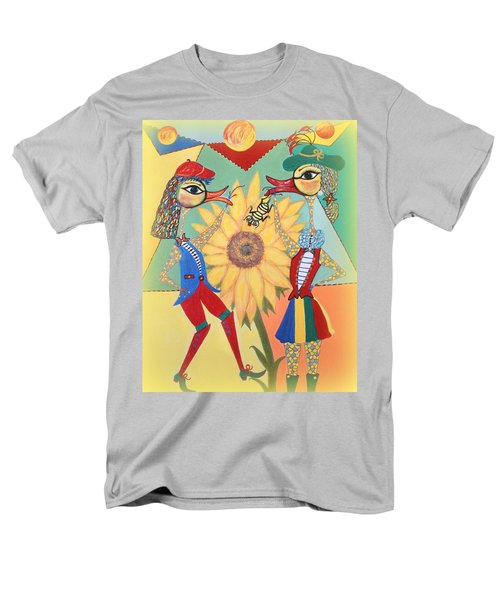 Men's T-Shirt  (Regular Fit) featuring the painting Duke Have A Honey-bee by Marie Schwarzer