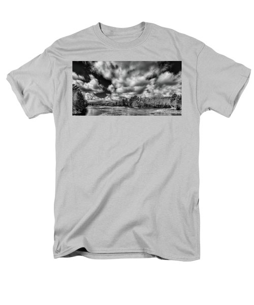 Men's T-Shirt  (Regular Fit) featuring the photograph Dusting Of Snow On The River by David Patterson