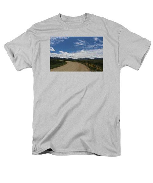 Dusty  Road Men's T-Shirt  (Regular Fit) by Suzanne Lorenz
