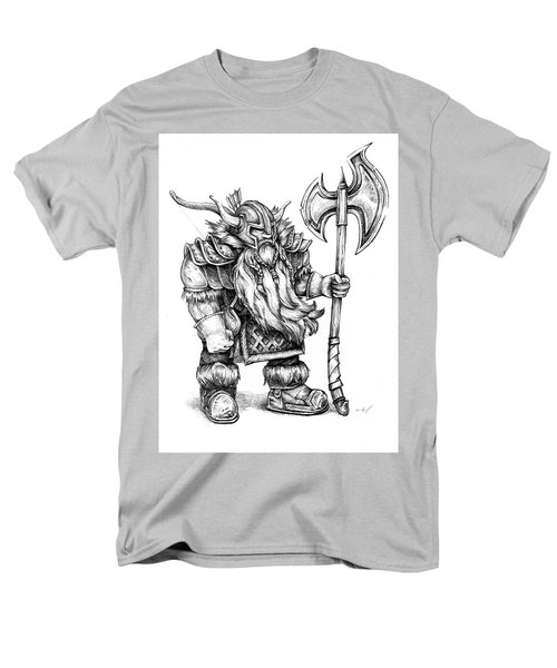 Men's T-Shirt  (Regular Fit) featuring the drawing Dwarf by Aaron Spong