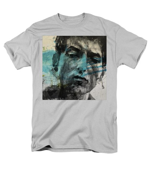Dylan - Retro  Maggies Farm No More Men's T-Shirt  (Regular Fit) by Paul Lovering