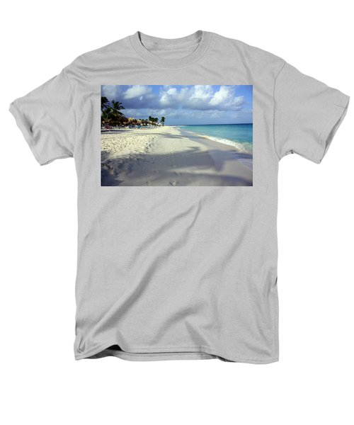 Men's T-Shirt  (Regular Fit) featuring the photograph Eagle Beach Aruba by Suzanne Stout
