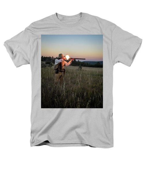 Early 1800's Flintlock Muzzleloader Blast Men's T-Shirt  (Regular Fit) by Nadja Rider