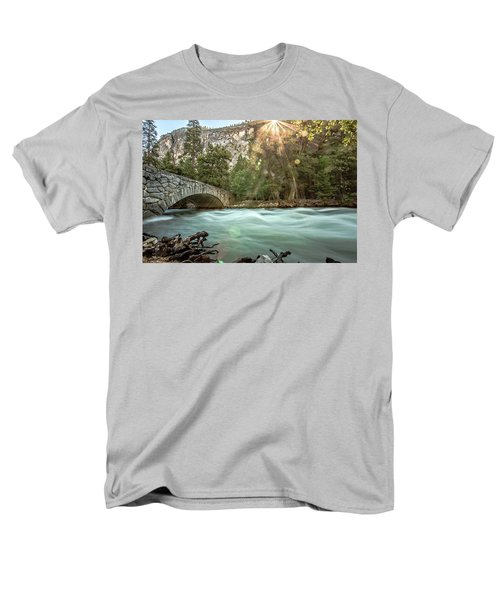 Early Morning On The Merced River Men's T-Shirt  (Regular Fit) by Ryan Weddle