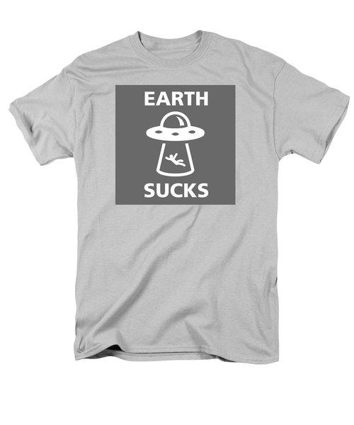 Men's T-Shirt  (Regular Fit) featuring the digital art Earth Sucks by Gina Dsgn