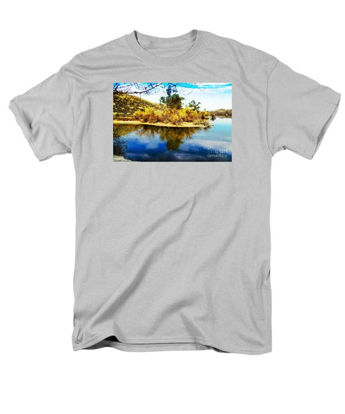 Men's T-Shirt  (Regular Fit) featuring the photograph East Bay, Canyon Lake, Ca by Rhonda Strickland
