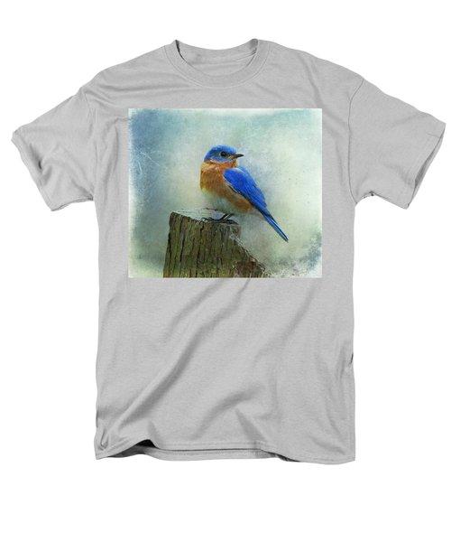 Eastern Bluebird II Men's T-Shirt  (Regular Fit) by Sandy Keeton