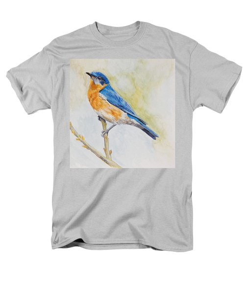 Eastern Mountain Bluebird Men's T-Shirt  (Regular Fit) by Robert Decker