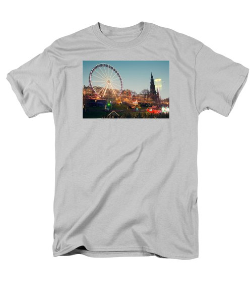 Edinburgh And The Big Wheel Men's T-Shirt  (Regular Fit) by Ray Devlin