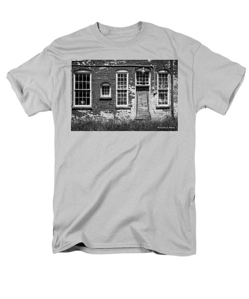 Men's T-Shirt  (Regular Fit) featuring the photograph Enough Windows - Bw by Christopher Holmes