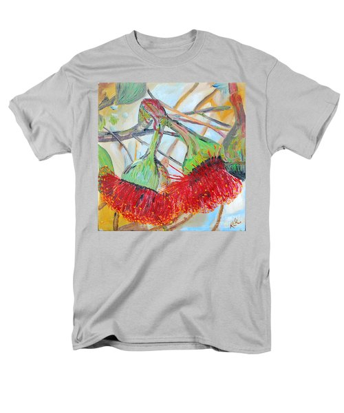 Men's T-Shirt  (Regular Fit) featuring the painting Eucalyptus Flowers by Reina Resto