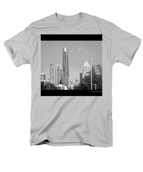 Even In #blackandwhite, The #skyline Of Men's T-Shirt  (Regular Fit) by Austin Tuxedo Cat