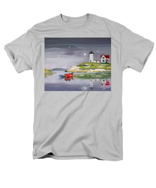 Men's T-Shirt  (Regular Fit) featuring the painting Evening Lighthouse by Phyllis Kaltenbach