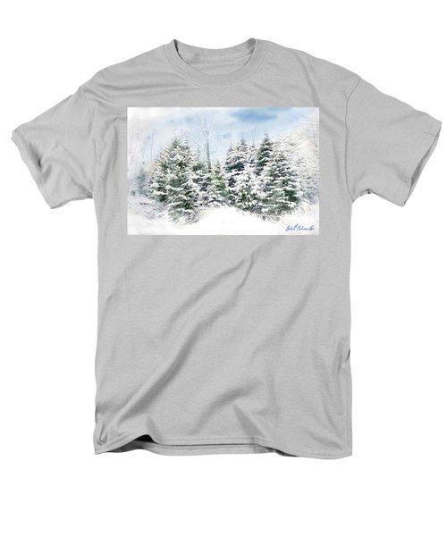 Men's T-Shirt  (Regular Fit) featuring the digital art Evergreens by John Selmer Sr