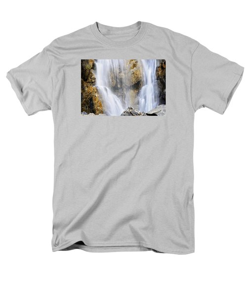 Men's T-Shirt  (Regular Fit) featuring the photograph Eyes In The Rocks- Holland Falls  by Janie Johnson