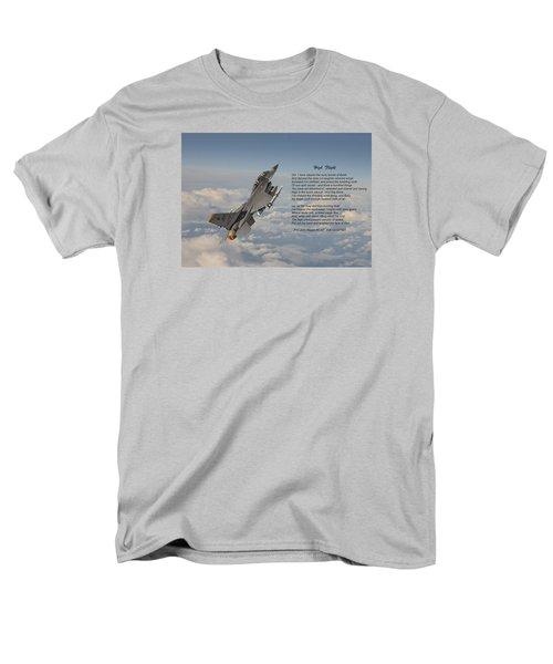 F16 - High Flight Men's T-Shirt  (Regular Fit) by Pat Speirs