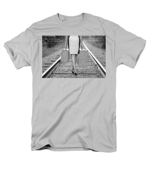 Men's T-Shirt  (Regular Fit) featuring the photograph Faith In Your Journey by Barbara West