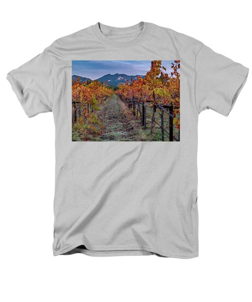 Men's T-Shirt  (Regular Fit) featuring the pastel Fall In Wine Country by Bill Gallagher