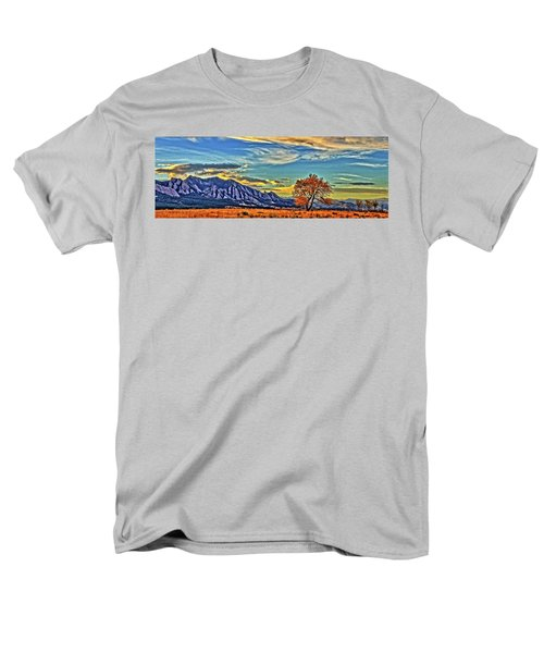 Men's T-Shirt  (Regular Fit) featuring the photograph Fall Over The Flatirons by Scott Mahon