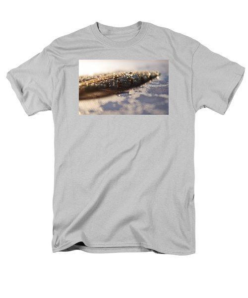 Men's T-Shirt  (Regular Fit) featuring the photograph Feather In Puddle by Adria Trail