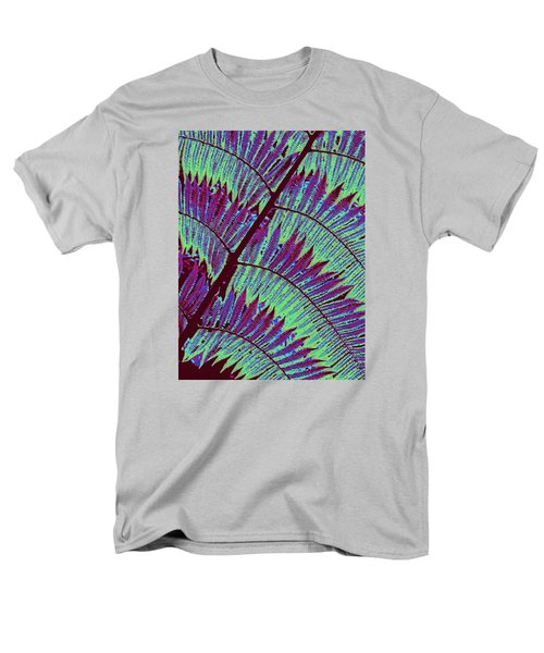 Men's T-Shirt  (Regular Fit) featuring the photograph Fern In Technicolor by Ranjini Kandasamy
